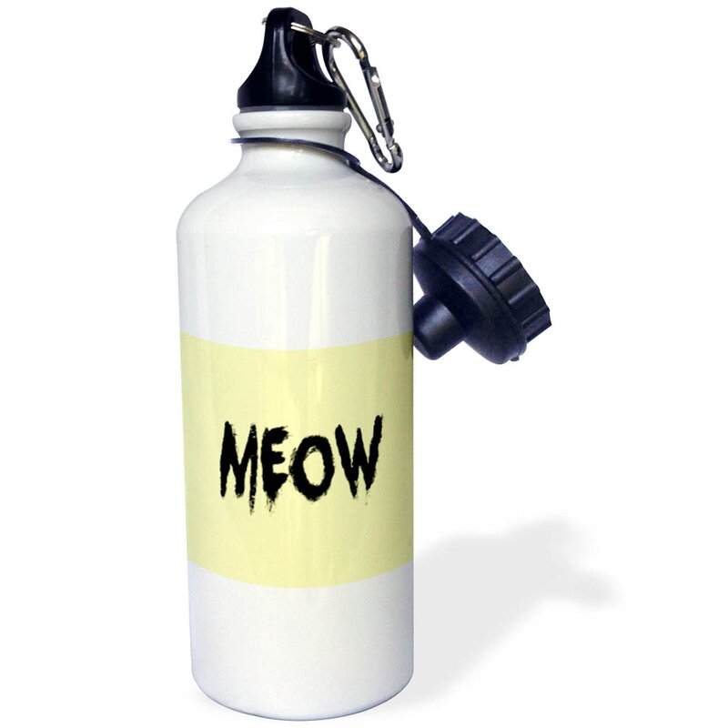 3drose Meow 21 Oz Stainless Steel Water Bottle With Straw Wayfair