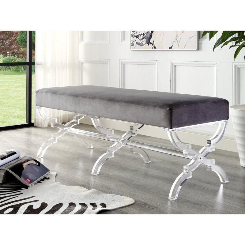 Rosdorf Park Sagamore Upholstered Bench & Reviews | Wayfair