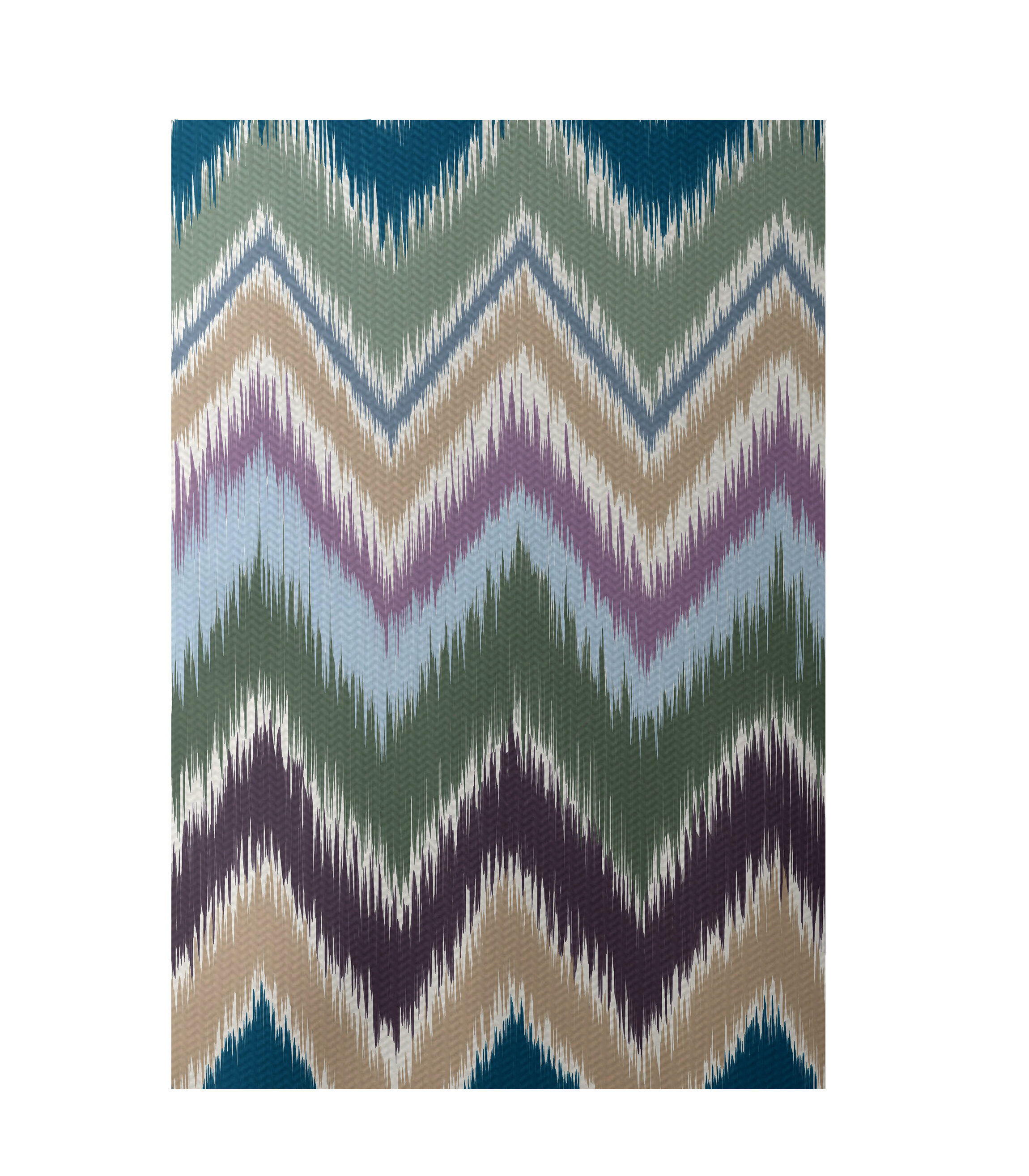 E By Design Flatweave Green Beige Blue Area Rug Wayfair