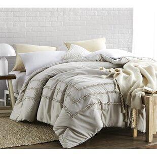 Lucian Border Ruffles Single Reversible Comforter