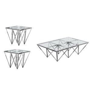 Everly Quinn Kroll 3 Piece Coffee Table Set
