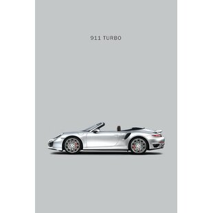 'Porsche 911 Turbo Cabriolet' Graphic Art Print on Canvas By East Urban Home