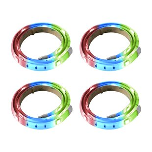 RGB 6.75 ft. LED Tape Light (Set of 4) by Bazz
