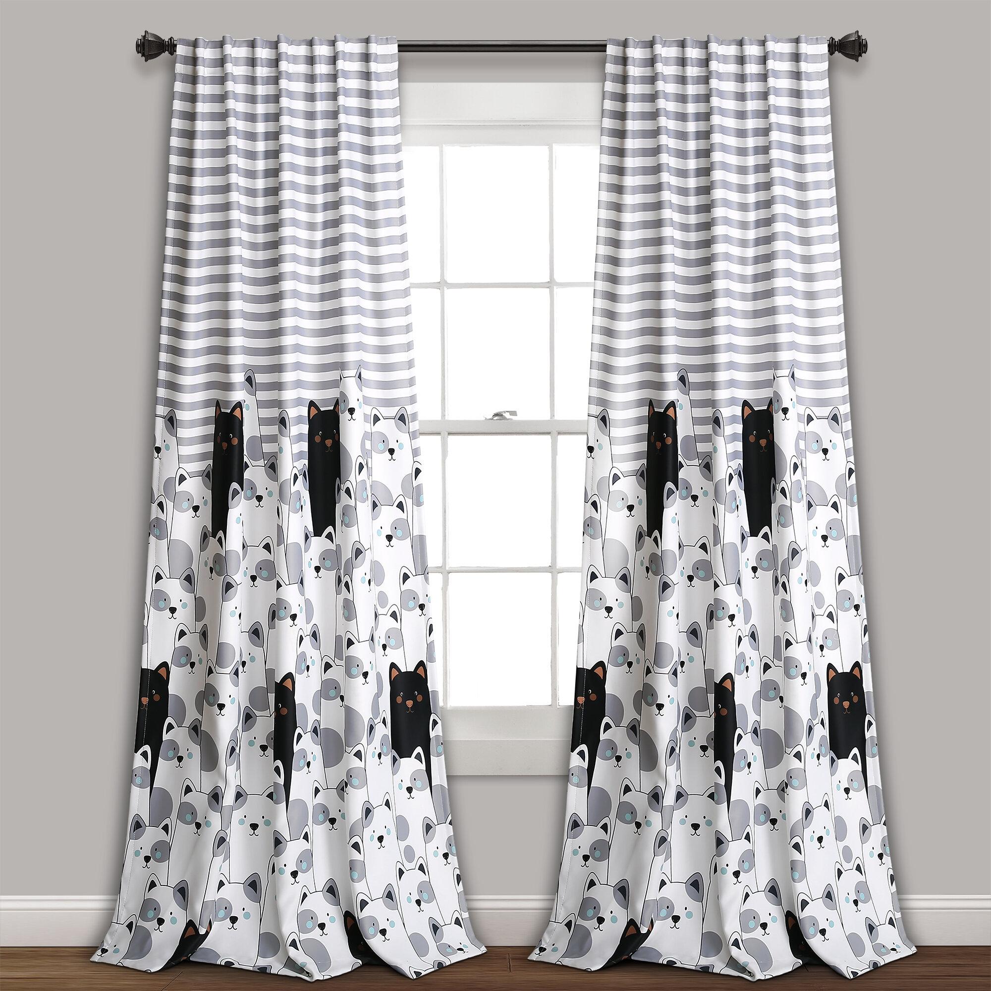 Zoomie Kids Ann Window Striped Room Darkening Rod Pocket Curtain Panels Wayfair Ca
