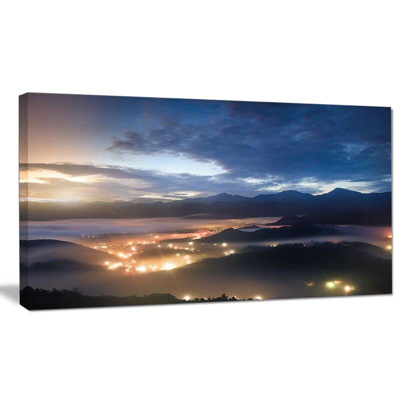 Designart Blue Cloudy Summer Sunrise Photographic Print On Wrapped Canvas Wayfair
