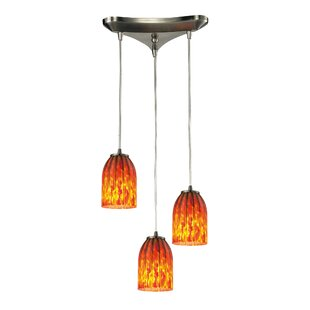 Rayne 3-Light Cluster Pendant by Bloomsbury Market