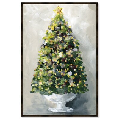 Acrylic Christmas Tree Painting.The Holiday Aisle Christmas Tree 1 Framed Acrylic Painting