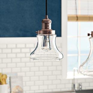Nardone 1-Light Bell Pendant by Beachcrest Home