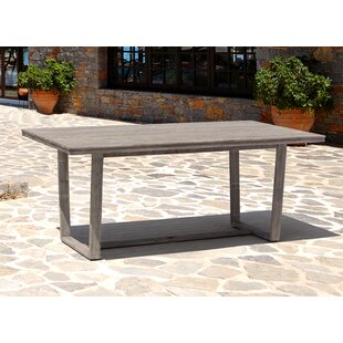 Joanne Casual Contemporary Driftwood Gray Outdoor Dining Table