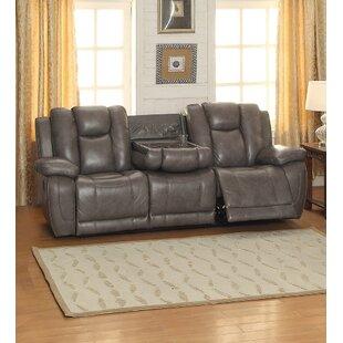 Leonid Leather Reclining Sofa