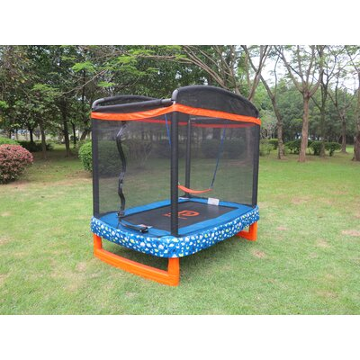 Trampoline 6' Rectangular Trampoline with Safety Enclosure Jump Power