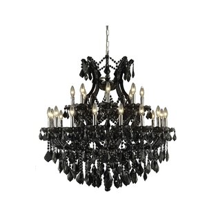 House of Hampton Regina 24-Light Chain Candle Style Chandelier