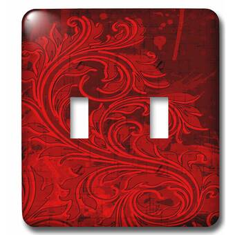 3drose Elegant Vines On Tones 2 Gang Toggle Light Switch Wall Plate Wayfair