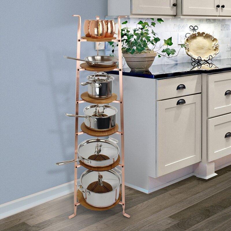 Enclume Handcrafted 6 Tier Gourmet Cookware Freestanding Pot Rack