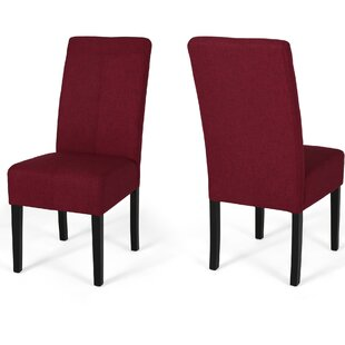 Googe Upholstered Dining Chair Set of 2 by Latitude Run