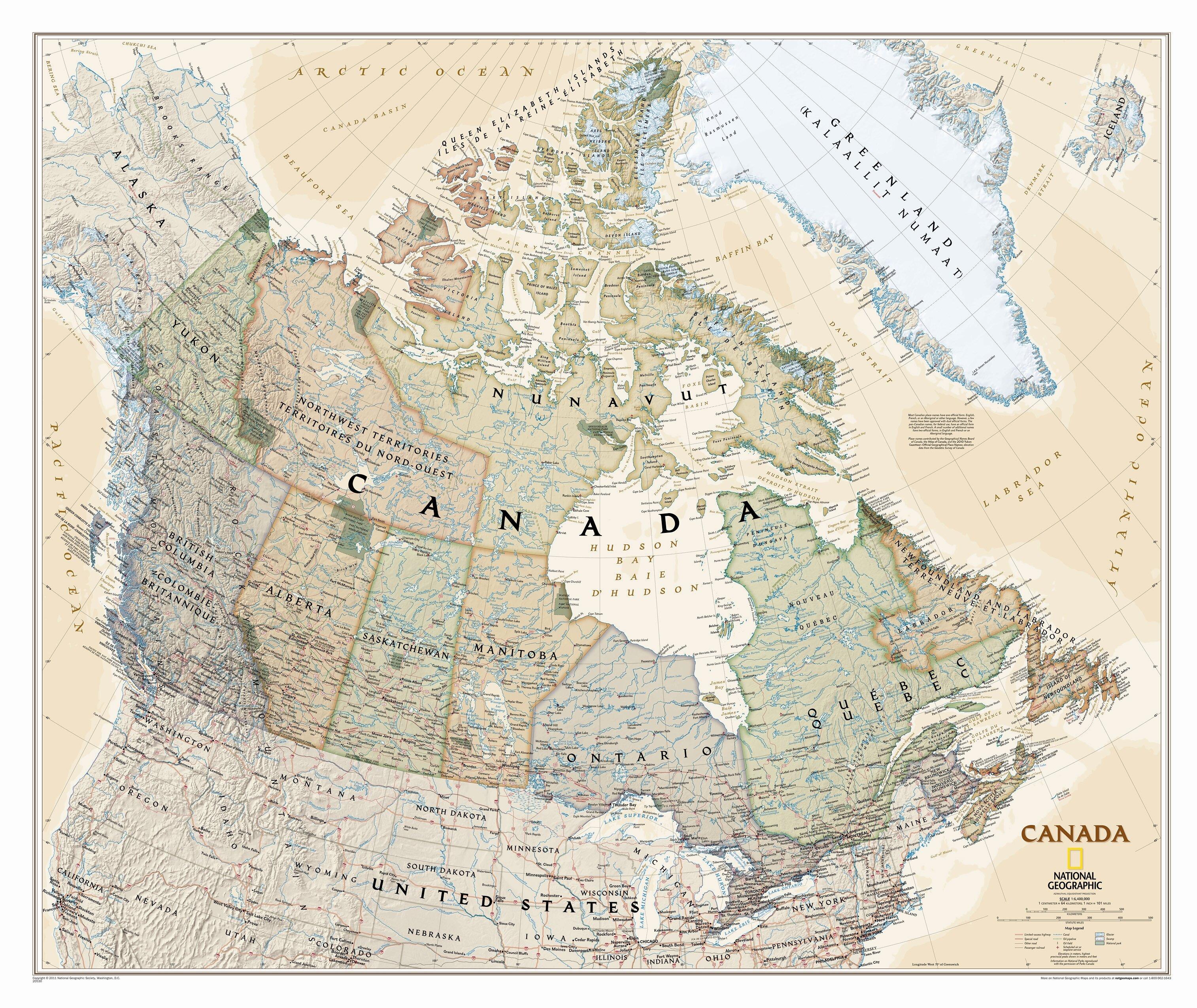 Wall Map Canada National Geographic Maps Canada Executive Wall Map | Wayfair