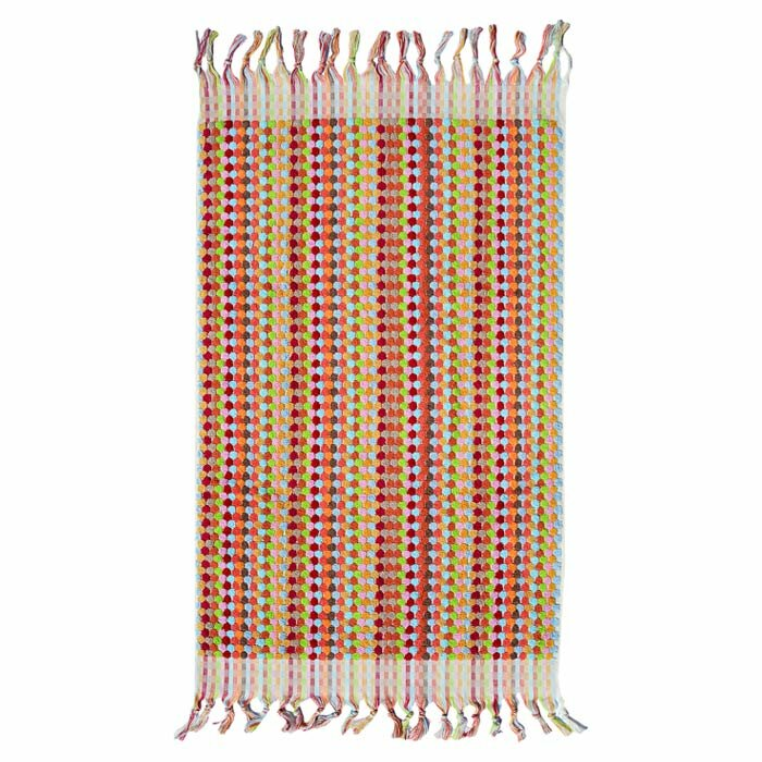 Michele Keeler Home Turkish Rectangle 100 Cotton Polka Dots Bath Rug Reviews Wayfair