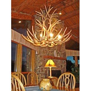 Attwood Antler Mule Deer Cascade 9 Light Candle Style Chandelier
