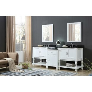 Caballero 83 Wall-Mounted Double Bathroom Vanity Set by Rosecliff Heights