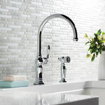 K 99259 Sn Vs Cp Kohler Artifacts Single Hole Kitchen Sink Faucet