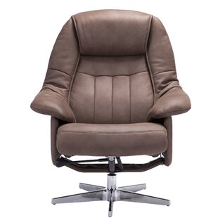 Betty Manual Swivel Recliner with Ottoman by Darby Home Co