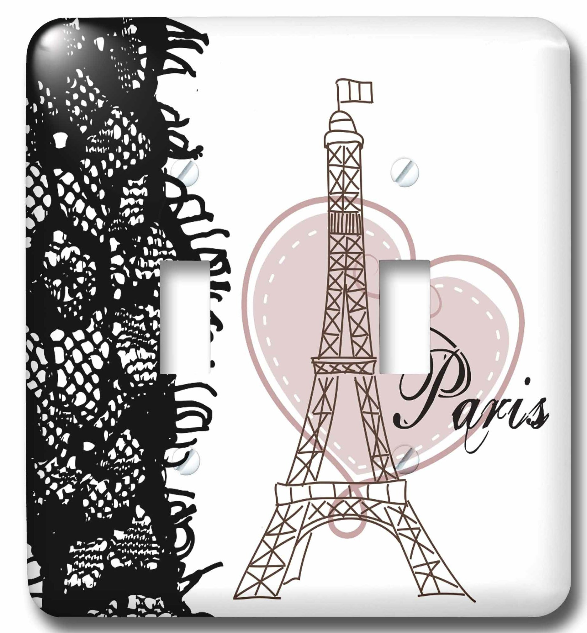 3drose Paris Eiffel Tower With Heart And Lace 2 Gang Toggle Light Switch Wall Plate Wayfair