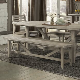Great deal Upton Wood Bench By Union Rustic