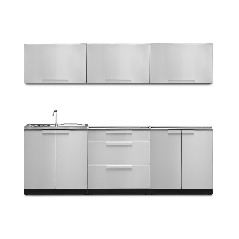 Newage Products 6 Piece Modular Outdoor Kitchen Cabinets Wayfair