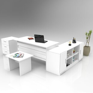 Stanyon 4-Piece Standard Desk Office Suite By Ebern Designs