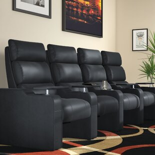 Latitude Run Manual Group Rocker Recline Home Theater Row Seating (Row of 4)