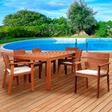 Twilley International Home Outdoor 7 Piece Dining Set with Cushions