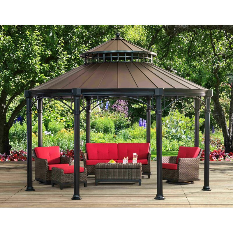 Windsor 14.5 Ft. W X 14.5 Ft. D Metal Patio Gazebo
