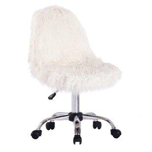 Brilliant Engler Faux Fur Task Chair Inzonedesignstudio Interior Chair Design Inzonedesignstudiocom