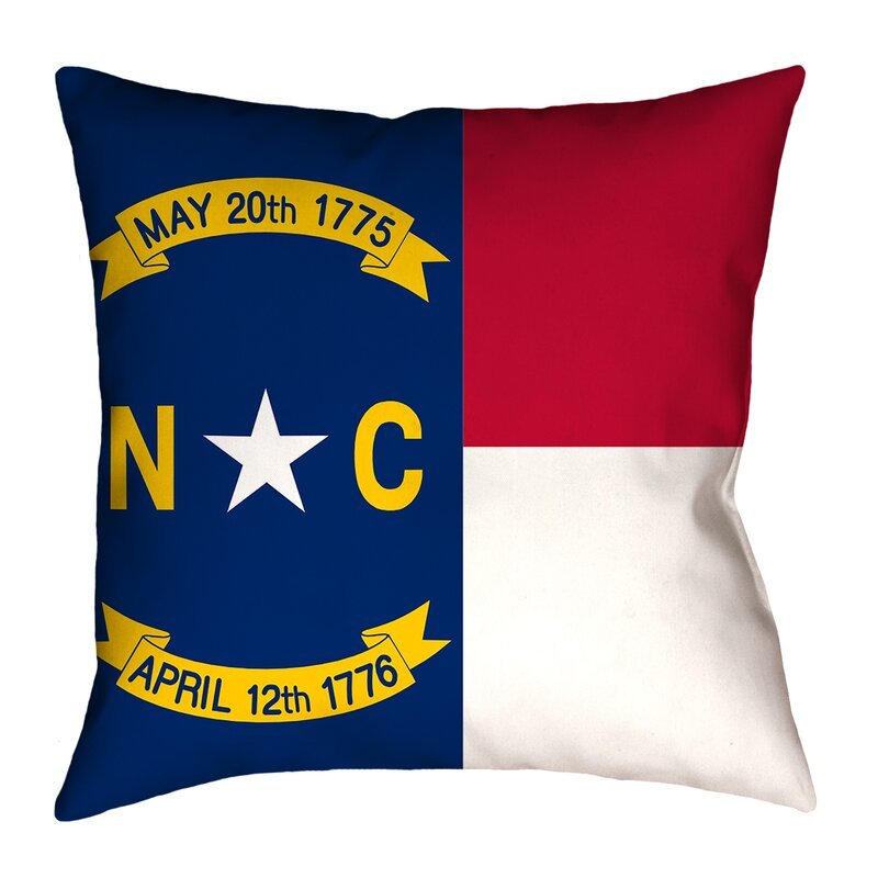 East Urban Home Centers North Carolina Flag In Poly Proplin Throw Pillow Concealed Zipper Indoo Wayfair
