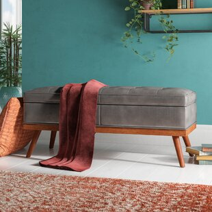 Brayden Studio Ronquillo Faux Leather Storage Bench