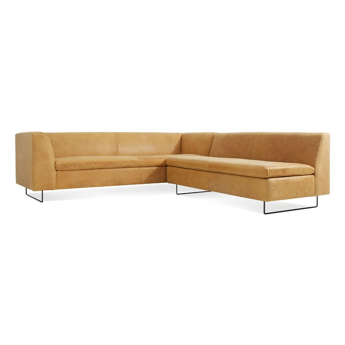 Terrific Bonnie And Clyde Leather Sectional Sofa Gmtry Best Dining Table And Chair Ideas Images Gmtryco