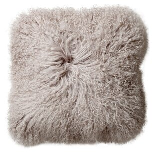 Morillo Mongolian Lamb Fur Throw Pillow