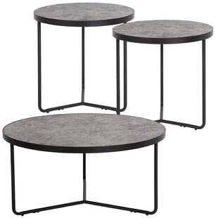 Union Rustic Capone 3 Piece Coffee Table Set