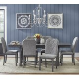 Witkowski Extendable Solid Wood Dining Set by Ophelia & Co.
