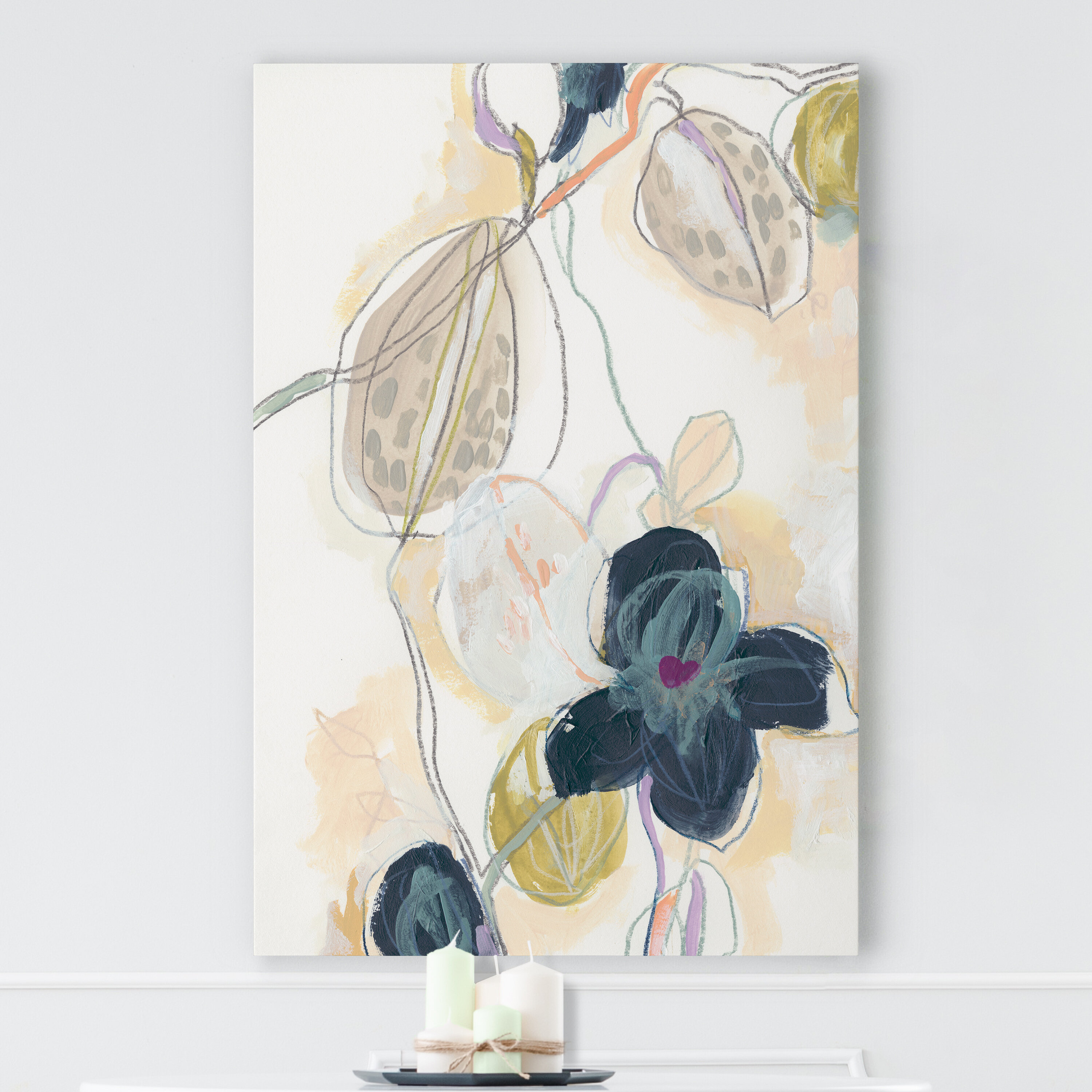 Abstracted Orchid I Print On Canvas Reviews Joss Main