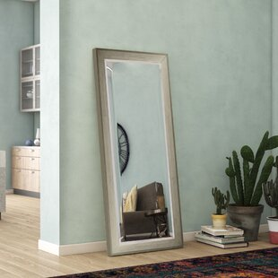 Deals Brushed Silver Tone Full Length Beveled Body Mirror ByWade Logan
