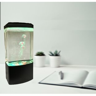 Abella Illuminated Jellyfish Aquarium 10.5 Table Lamp