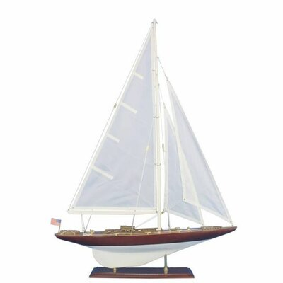 Wooden William Fife Decoration Model Sailboat