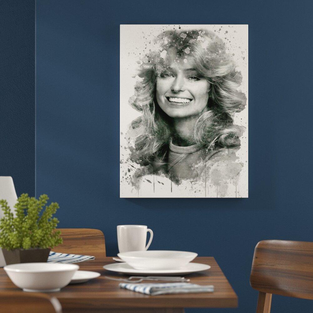 Art print POSTER Farrah Fawcett Smiling
