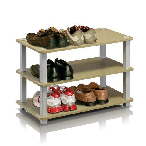 Stapelbares Schuhregal für 9 Paar Schuhe   Flur & Diele > Schuhschränke und Kommoden > Schuhregal   Weiß   Ebern Designs