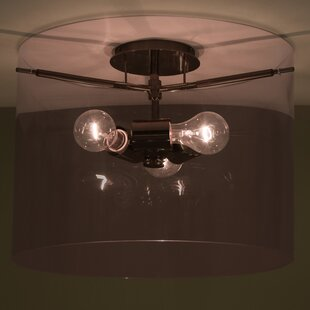 Besa Lighting Pahu 3-Light Semi Flush Mount