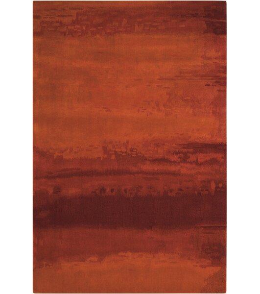 Calvin Klein Rugs Luster Wash Wool Russet Tones Rust Area Rug U0026 Reviews |  Wayfair