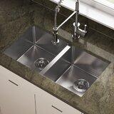 """31"""" L x 18"""" W Double Basin Undermount Kitchen Sink"""