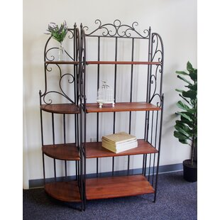 Verlene Metal/Wood Etagere Bookcase by Fleur De Lis Living