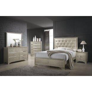Odele Upholstered Panel Bed by Rosdorf Park
